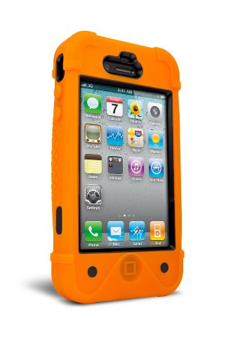 iFrogz IP4BF-ORG/BLK BullFrogz Case for iPhone 4/4S - 1 Pack - Retail Packaging - Orange/Black