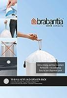 Brabantia 375705 Distributeur de Sacs Poubelles Poignées Coulissantes 50-60 L Blanc