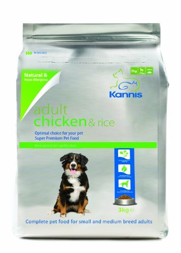 Kannis Adult Chicken & Rice Dry Dog Food For Small & Medium Breeds 3Kg