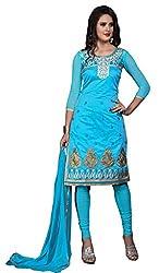 DKS Designers Women's Chanderi Unstitched Dress Material (PARI08_Yellow_Free Size)