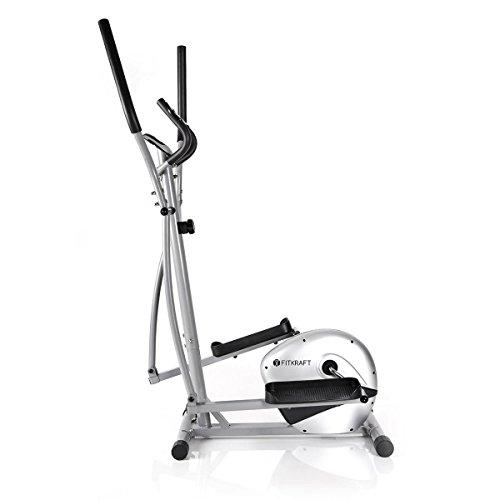 """Fitkraft - Cyclette """"Ellittica"""" Crosstrainer, Resistente E Magnetica Orbitrek, Computer, Con Ergometro E Pulsometro"""