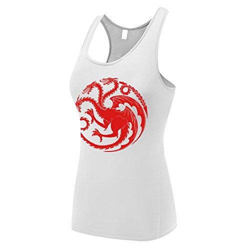 Sysuer Womens House Targaryen Logo Base Layer Dry Fit Training Tank Top Mind Games T-Shirt