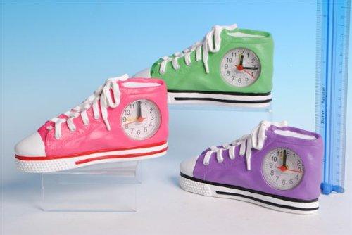 Training Shoe - Sneaker Clock - Green In Colour