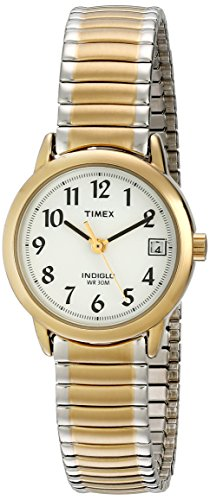 Timex Women's T2H491 Easy Reader Two-Tone Stainless Steel Expansion Band Watch (Ladies Extra Long Watches compare prices)