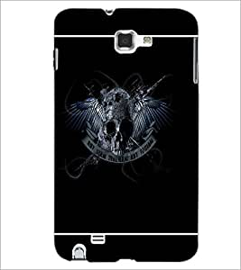 PrintDhaba Skull D-1384 Back Case Cover for SAMSUNG GALAXY NOTE 1 (Multi-Coloured)