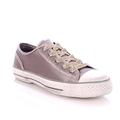 Ash Viper Taupe Silk Satin Vulcanised Trainer Taupe 37