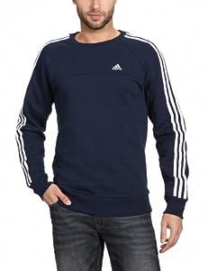 adidas Herren Langärmliges Shirt Essentials 3-Stripes Crew Sweat, Collegiate Navy, S, X20563