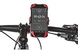MonarchPuff Universal Bike cell phone mount, Motorcycle, Handlebar, Roll Bar Mount for Smart Phones