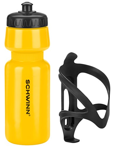 Schwinn Water Bottle and Cage, Yellow