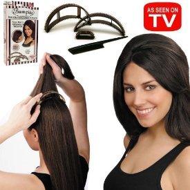 Bumpits BI041712 Hair Volumizing Leave-In Inserts, Dark Brown/Black