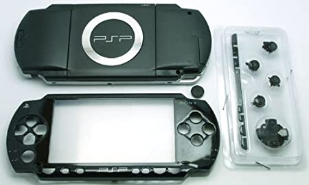 Piano Black - Sony PSP 1000 Full Housing Shell Cover Replacement with Button Set