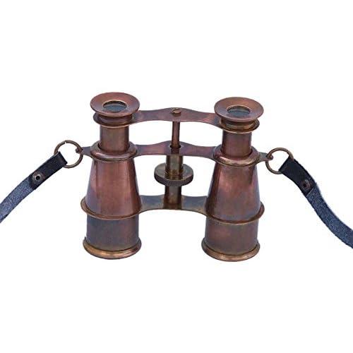 "Scout's Antique Copper Binoculars 4"" - Vintage Binoculars - Nautical Decoration"