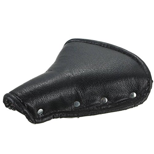 OUTERDO Bicycle Bike Vintage Imitation Leather Dual Coil Spring Rear Saddle Seat Black 1