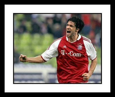 Michael Ballack Bayern Munich Framed 8x10 Photo - Goal Celebration