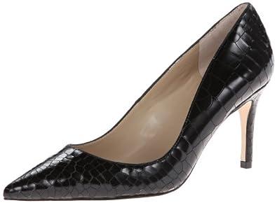 Charles David Women's Luisa Dress Pump,Black Crocodile,8.5 M US