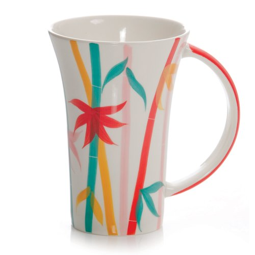 Hues & Brews 12-Ounce Mug Bamboo, Set Of 4