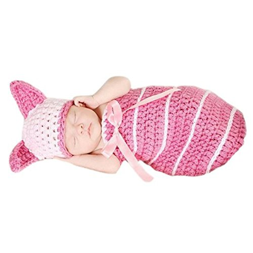 CX-Queen Baby Bunny Pink bow Rabbit Handmade Hat Beanie Sleeping bag photo props