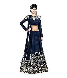 Krishna Emporia Women's Blue Designer Lehenga Choli