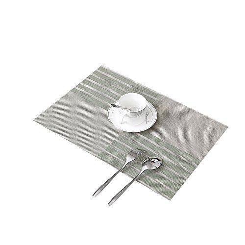 Placemats For Kitchen Outdoor barbecue Dining Room Placemats Heat Resistant Washable Stain-resistant Insulation Non-slip Weave elegant Place mats Table Mats