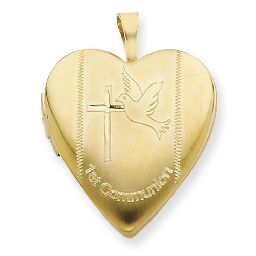 1/20 Gold Filled 20mm 1st Communion Heart Locket