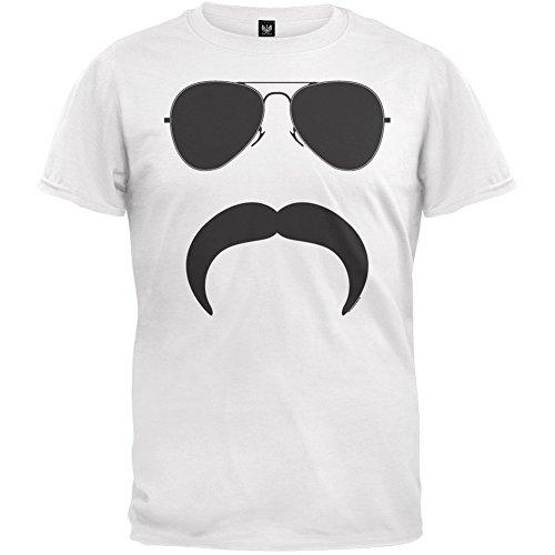 Aviator Mustache Silhouette T-Shirt (Mustache Merchandise compare prices)