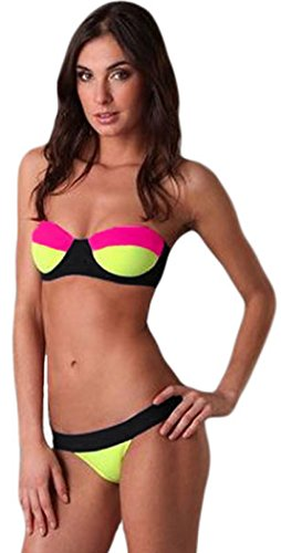 color-block-tropicana-bestime-strapless-bikini-costume-intero-da-donna-rosa-rosa