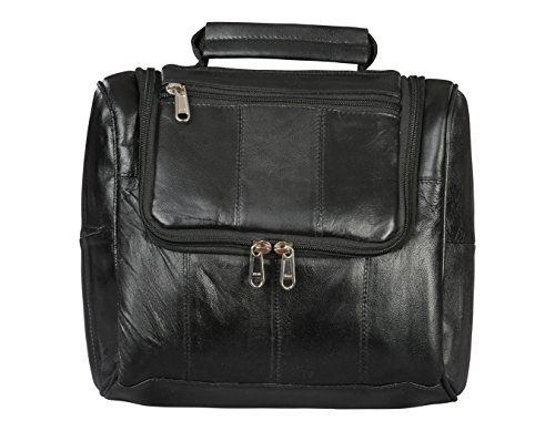 Leather Shaving Bag by Bayfield BagsTM-Hanging Toiletry Travel Bag for Men-Toiletries Organized (Wet Brush Mini Pack compare prices)