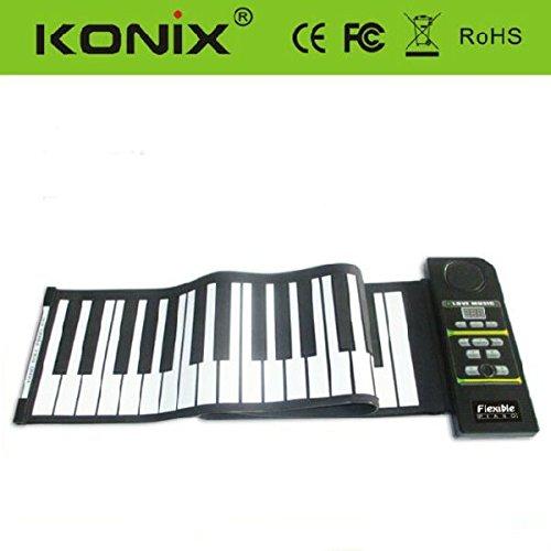 Konix Silicon Flexible 61 Keys Electric Roll Up Piano Pn61S