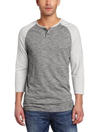 (连降)Calvin Klein Jeans Men's Novelty Baseball 卡文克莱纯棉长袖T恤两色$23.38