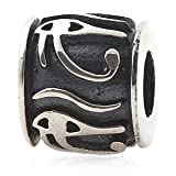 Everbling Eye of Horus Egyptian Symbol of Protection, Royal Power and Good Health Authentic 925 Sterling Silver Bead Fits Pandora Chamilia Biagi Troll Charms Europen Style Bracelets