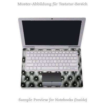 Design Skins f&#252;r TOSHIBA Satellite L670D-11T Tastatur - Leather Couch Design Folie