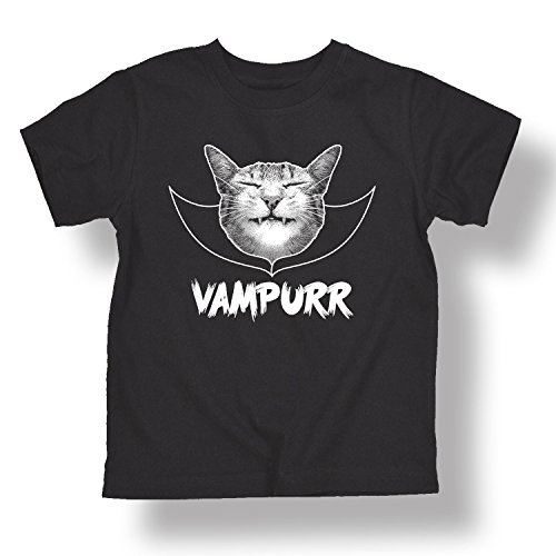 Vampurr Funny Cat Kid Humor Halloween Cape Costume Novelty Cool - Youth T-Shirt