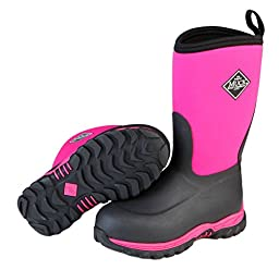 Muck Boots Children\'s Rugged II Performance Boot,Pink/Black, 9 M US Toddler