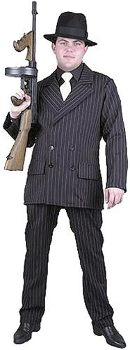 Adult Black/White Gangster Suit Costume Size: Large