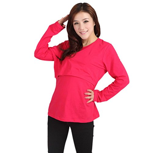 Best Price New Soft Pregnant Maternity Clothes Nursing Tops Breastfeeding Long T-Shirt by FEITONG