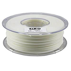 ZIRO 3D Printer Filament PLA 1.75 1KG(2.2lbs), Dimensional Accuracy +/- 0.05mm, White from ZIRO