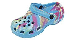 New Toddler\'s Blue Tie Dye Garden Shoes Clog Sandals Size 10