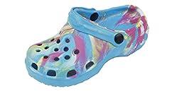 New Toddler\'s Blue Tie Dye Garden Shoes Clog Sandals Size 7
