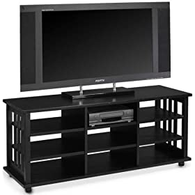 Mssn Tall Wide-screen Tv Cart 9 Shelves Black