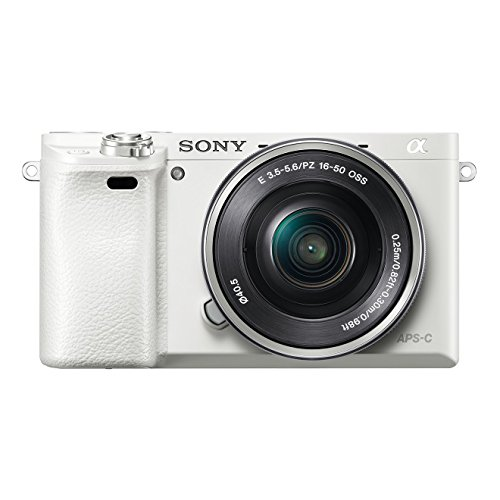 Sony Alpha 6000L Fotocamera Digitale Compatta con Obiettivo Intercambiabile, Sensore APS-C CMOS Exmor HD da 24,3 MP, Obiettivo da 16-50 mm incluso, Bianco