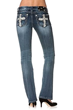 Miss Me Jeans Boot Cut JP5809B4,Medium Blue,31 (11/12) Long (34L)