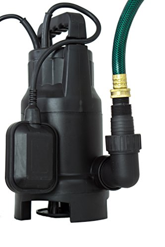 HydraPump Submersible – 120-volt ¾ HP 3000 GPH Clean / Dirty Submersible Water Pump includes float switch for automatic operation with adaptable hose connections