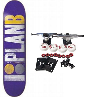 PLAN B SKATEBOARDS Complete Skateboard OG TEAM PURPLE