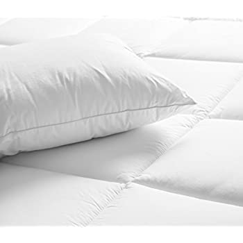 Superior White Down Alternative Pillow 2-Pack, Premium Hypoallergenic Microfiber Fill, Medium Density for Back, Stomach, and Side Sleepers - Standard Size, Solid White