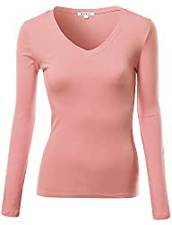 Awesome21 Women's Basic Solid V-neck…