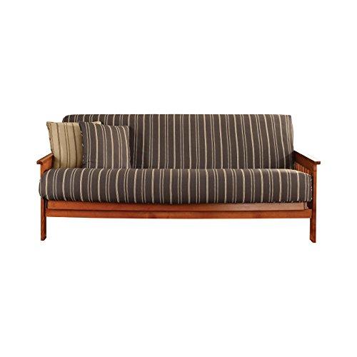 Sure Fit Colton Stripe Futon Slipcover, Brown