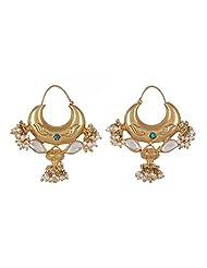 Amethyst By Rahul Popli White Silver Hoop Earrings