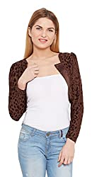 Meee Women's Body Blouse Shirt (MEEE-004938_Brown_Medium)