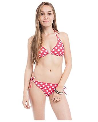 G2 Chic Women's Two Piece Matching Top and Bottom Bikini Swimwear(SW-2PC,LRD-S)