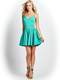 GUESS Women's Strappy Open-Back Fit-and-Flare Dress